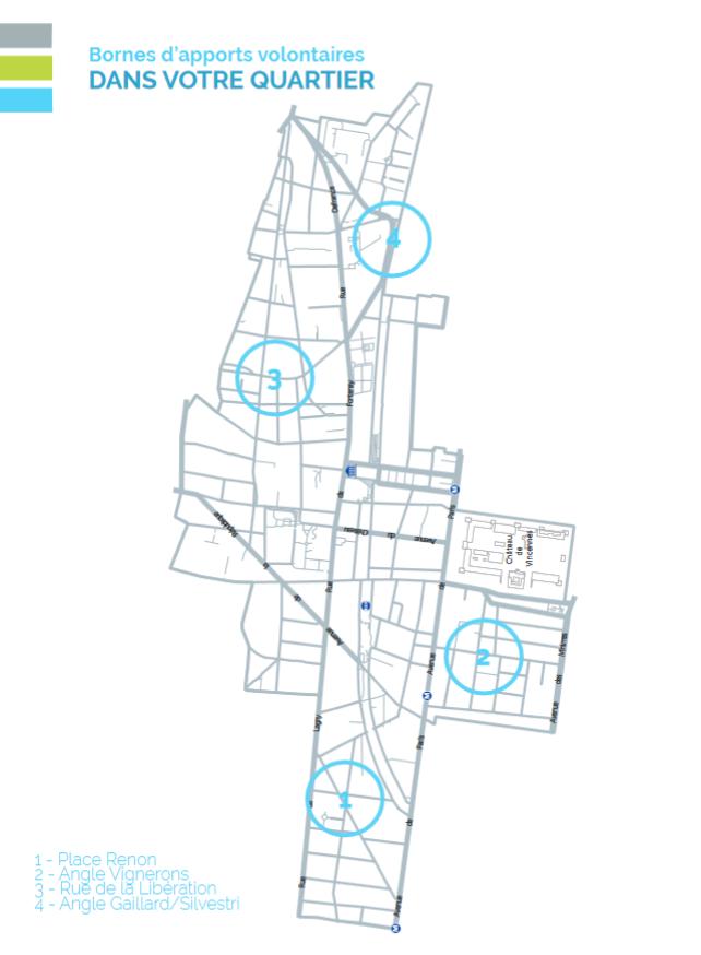 carte des points de collecte